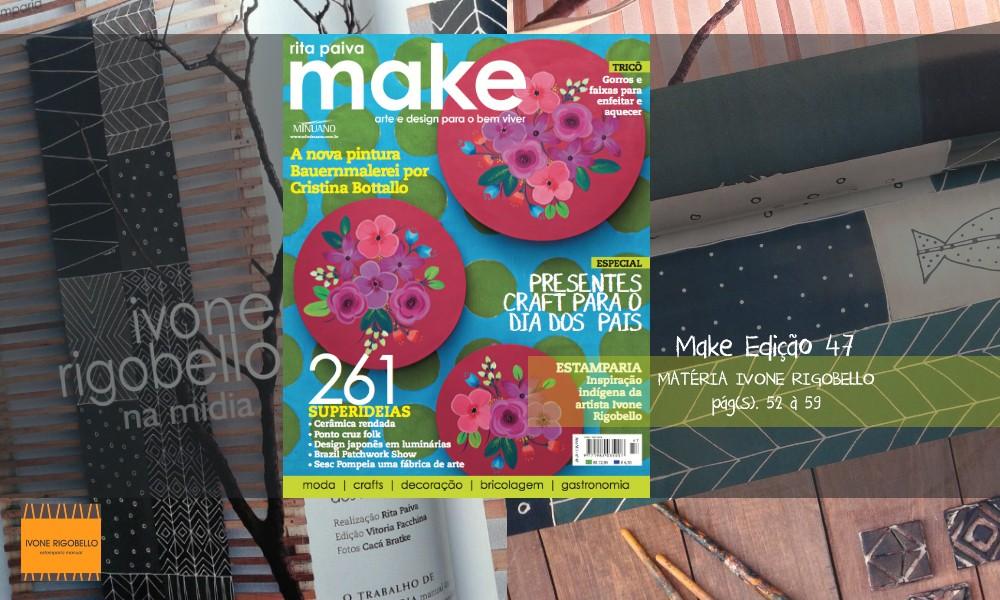 Clipping matéria Revista Make por Rita Paiva